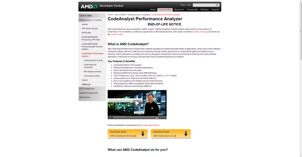 AMD CodeAnalyst