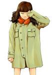 코트입은 소녀... 뭘 보고 그린건지 생각도 안나요..