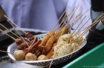 인도네시아 부키팅기의 길거리 음식