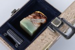 O-71. 수산석 인장 - 부용석, 전각용, 알튐있음 - (97g)