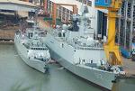 중국 Type 054A 호위함(구축함), Type 056 초계함, Type 052C/D 구축함의 크기 비교