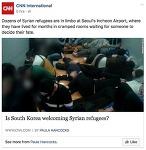 [기사번역]인천공항에서 시리아인들이 오도가도 못하는 상황에 처하다
