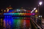 싱가폴 클락키(Clarke Quay)의 휘황한 야경