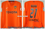 07/08 Valencia Away L/S No.21 Silva - Player issue (SOLD OUT)