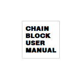 CHAIN BLOCK USER MANUAL