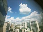 오늘 하늘 보셨나요-?! 뭉게구름 넘나 이쁘네요♡