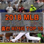 2018 메이저리그 홈런 비거리 TOP 10