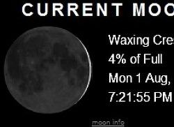 지금 현재 달모양 보기 current moon