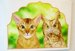 엄마미소 고양이 그림 '마리캣'