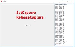 마우스 이벤트 캡쳐 - SetCapture, ReleaseCapture