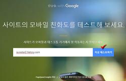 구글에서 블로그 모바일 친화성 및 속도 테스트해 보기