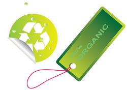 일러스트레이터 cs6로 만든 물방울 맺힌 recycle mark 재활용 마크와 유기농 organic 100% 씰 seal 태그....를 따라서 그리기 연습