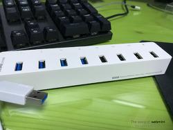 [리뷰]ip TIME UH308 8포트 USB3.0