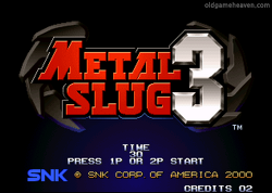 네오지오 게임 - 메탈슬러그 3 (Metal Slug 3)