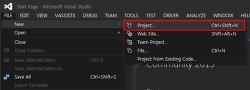Visual Studio 빈 솔루션 생성 (Blank Solution)