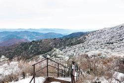 눈꽃산행의 시작 - 지리산 세석에서 장터목까지