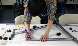 프레임 1, 앞 삼각 손수 만들기