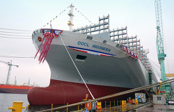 OOCL christens the last in latest series of 'G-Class' containerships
