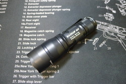 Surefire E1B Backup with MaxVision Flashlight