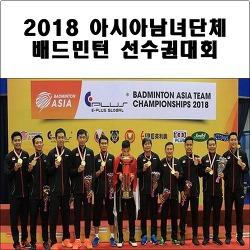 2018 아시아남녀단체 배드민턴선수권대회 결과
