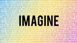 모든 사람이 평화롭게 살수 있다고 상상해보라!