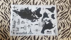 타공판 세계지도 만들기 (여행기념품 마그넷 용도)