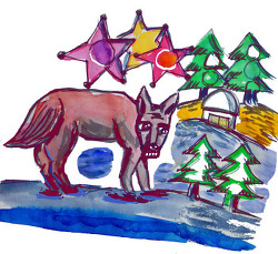 늑대가 우는 겨울밤