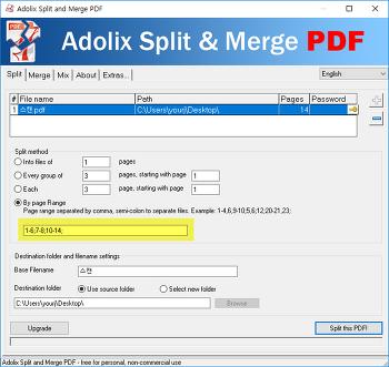 PDF 자르거나 붙이기 - 한컴PDF 이용, Adolix Split & Merge PDF