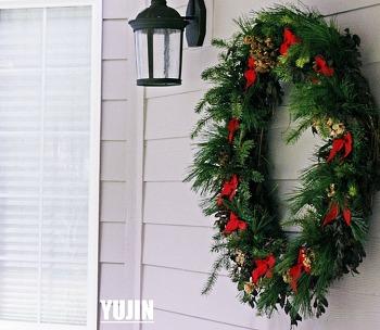 쉬운 크리스마스 리스만들기- 마당에 자라는 것들 활용 100%