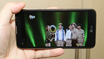 LG X 스크린 넓은 셀카 카메라 유리섬유 후면 디자인