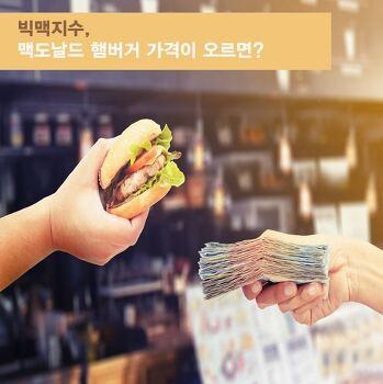 빅맥지수, 맥도날드 햄버거 가격이 오르면?