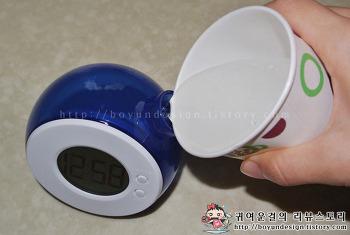 아이셔 독특한소품 친환경소재 물시계, 알람시계 추천 예쁜탁상시계!