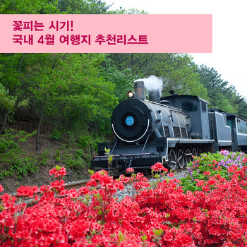 꽃피는 시기! 국내 4월 여행지 추천리스트