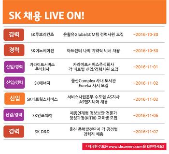 SK그룹 채용소식 10월 4주차