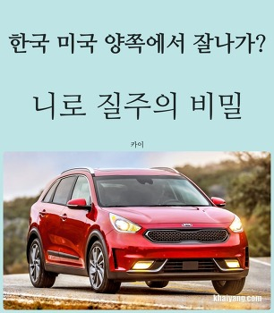 한국 미국 양쪽에서 잘나가? 기아 니로 질주의 비밀