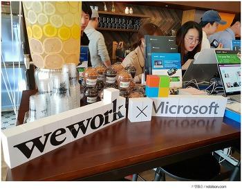 윈도우10 프로 자유로운 디지털노마드를 만든다! 위워크 x 마이크로소프트