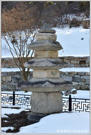 충남 아산 인취사 석탑