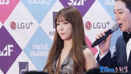 161226 SBS 가요대전 레드카펫 소녀시대 태연 직캠 by 스피넬