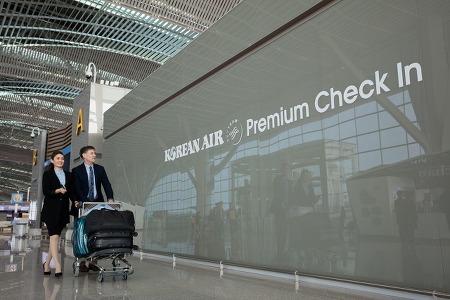 사진으로 살펴보는 제2여객터미널 대한항공 프리미엄 서비스