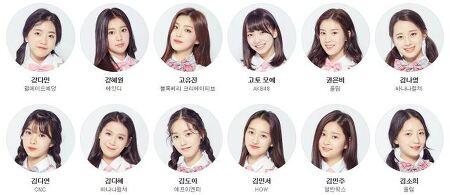 프로듀스48 출연자 한국 일본 참가자 명단