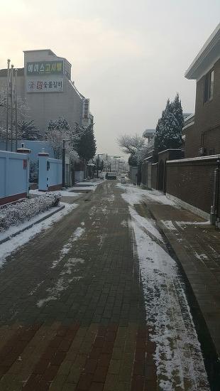 행궁동에 눈이 왔어요