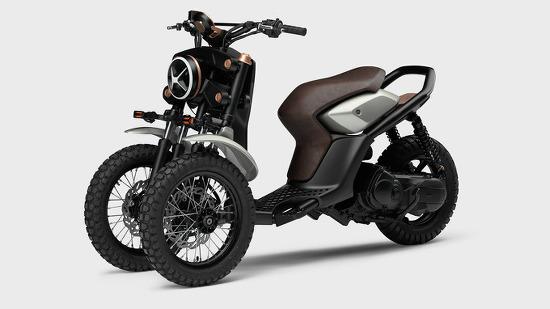 *야마하 전기스쿠터 the yamaha 03GEN-X is a three-wheeled off-road scooter concept