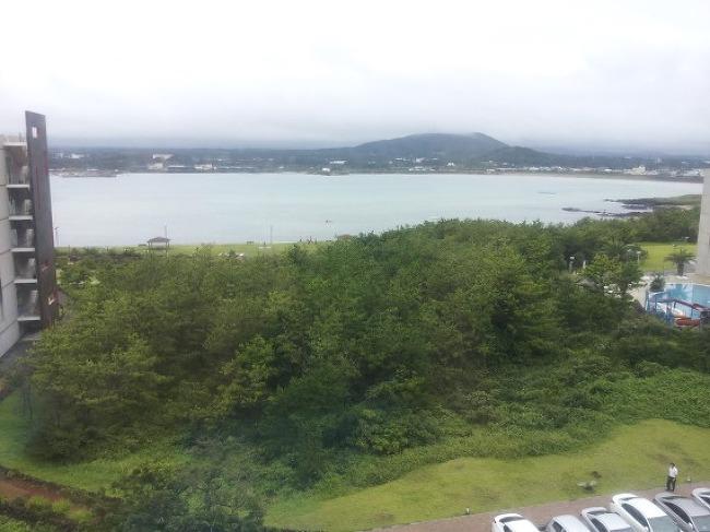 휘닉스 아일랜드에서 보는 신양 해수욕장