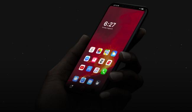 아이폰8, 미리보는 UI 디자인. 홈바(HomeBar)와 5.15인치 화면.