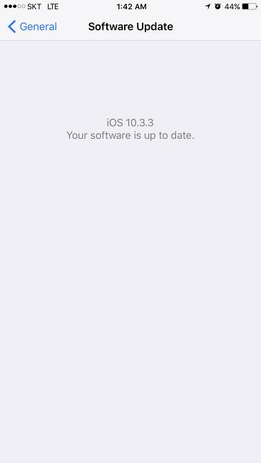 IOS11 업데이트 대기중입니다