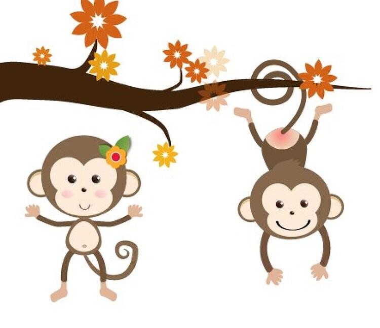 원숭이 벡터 소스