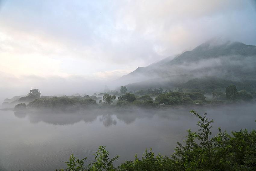 합천보조댐의 여름 물안개가 만들어낸 한폭의 동양화!(합천여행)