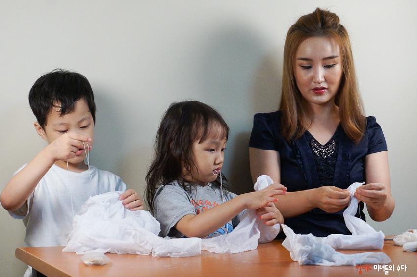 하림 피오봉사단 7월활동, 친환경 천연 염색 손수건 만들기!