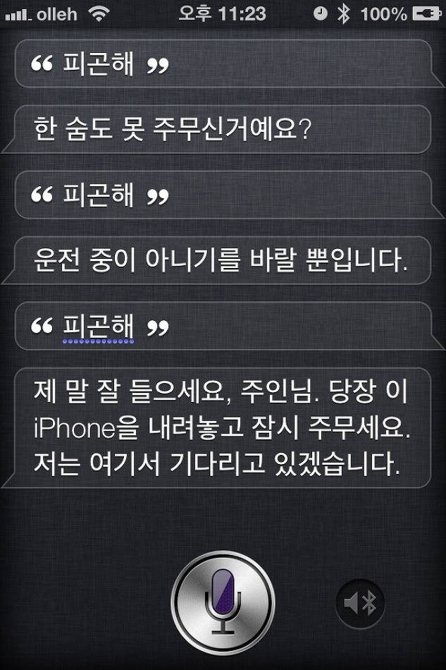 갤럭시S3의 S Voice vs iPhone4S의 Siri