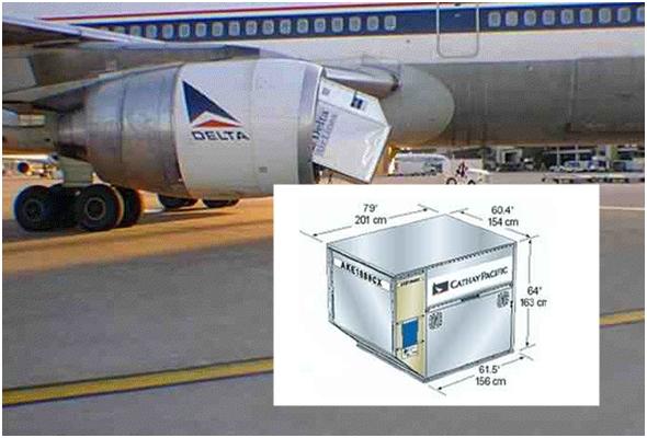 항공기 화물 탑재에 사용되는 컨테이너(ULD) , 그리고 이걸 먹어버린 델타 항공기 ^^;;